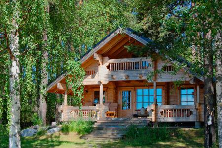 дом в березовом лесу